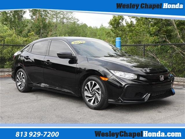 Certified Pre-Owned 2019 Honda Civic Hatchback LX CVT